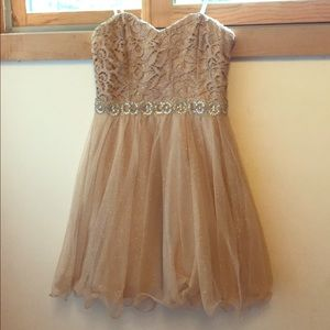Sparkling Gold City Triangles Dress